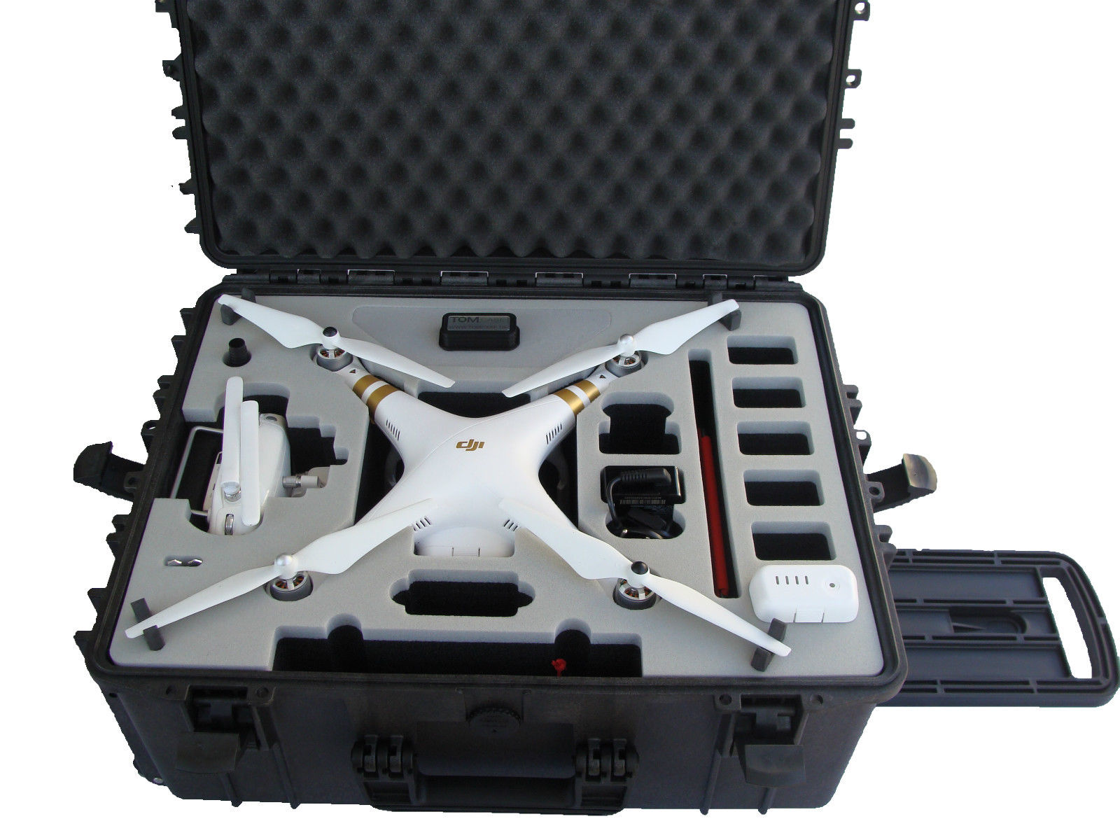 transportkoffer trolley dji phantom3 multicopter inkl gopro. Black Bedroom Furniture Sets. Home Design Ideas